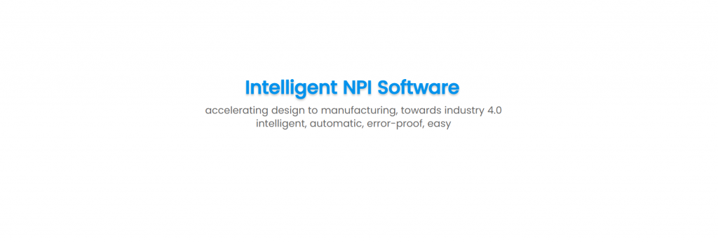 Intelligent NPI solutions